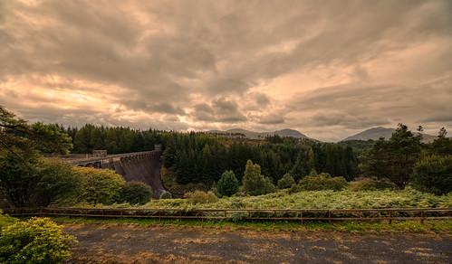 Laggan Dam at the Roy Bridge Reservoir, Scotland.