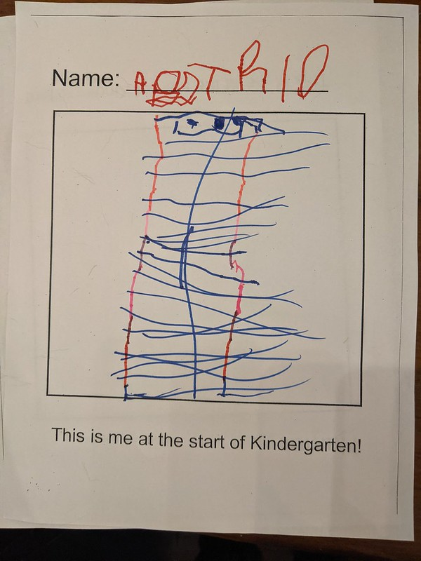 This is me at the start of Kindergarten