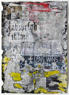 Zavier Ellis 'Freiheit VIII', 2021 Acrylic, emulsion, spray paint, collage on paper 59.4x42cm