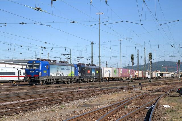 HUPAC 193 496 + MRCE 193 716 Basel Badischer Bahnhof