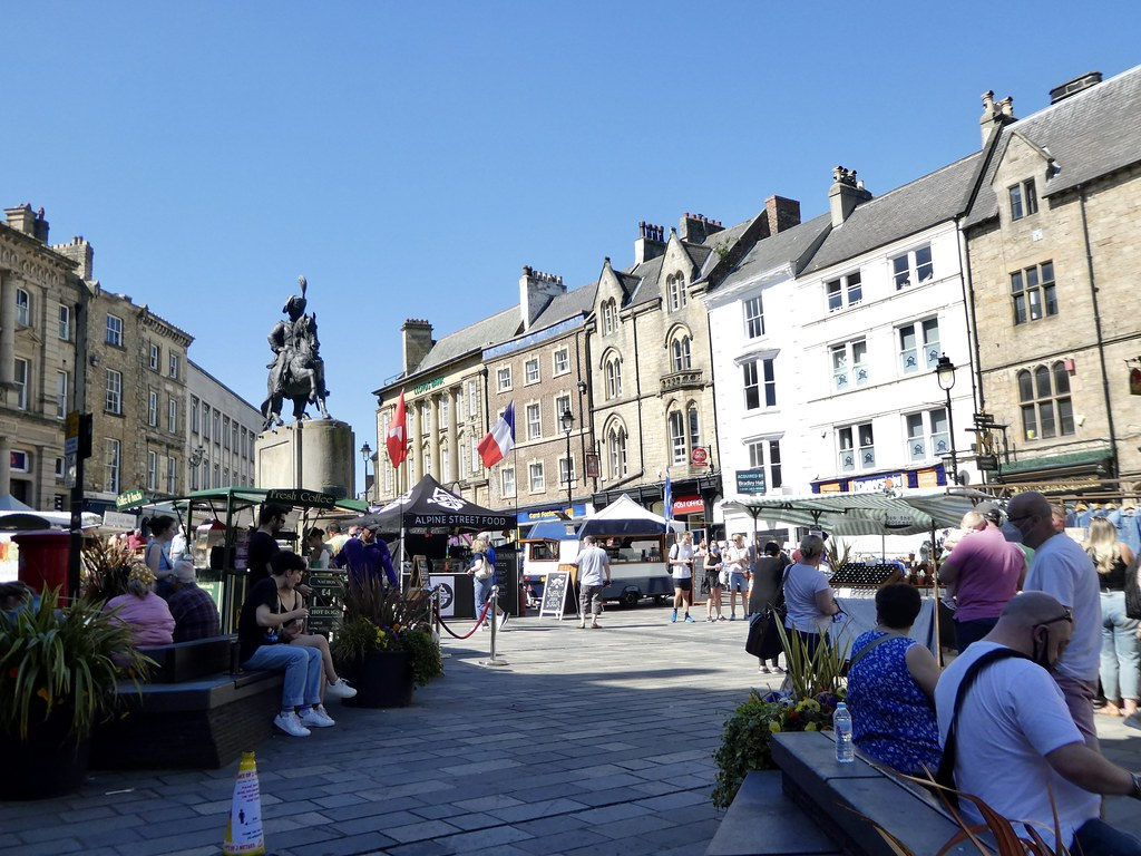 Saturday market at Durham Market Place