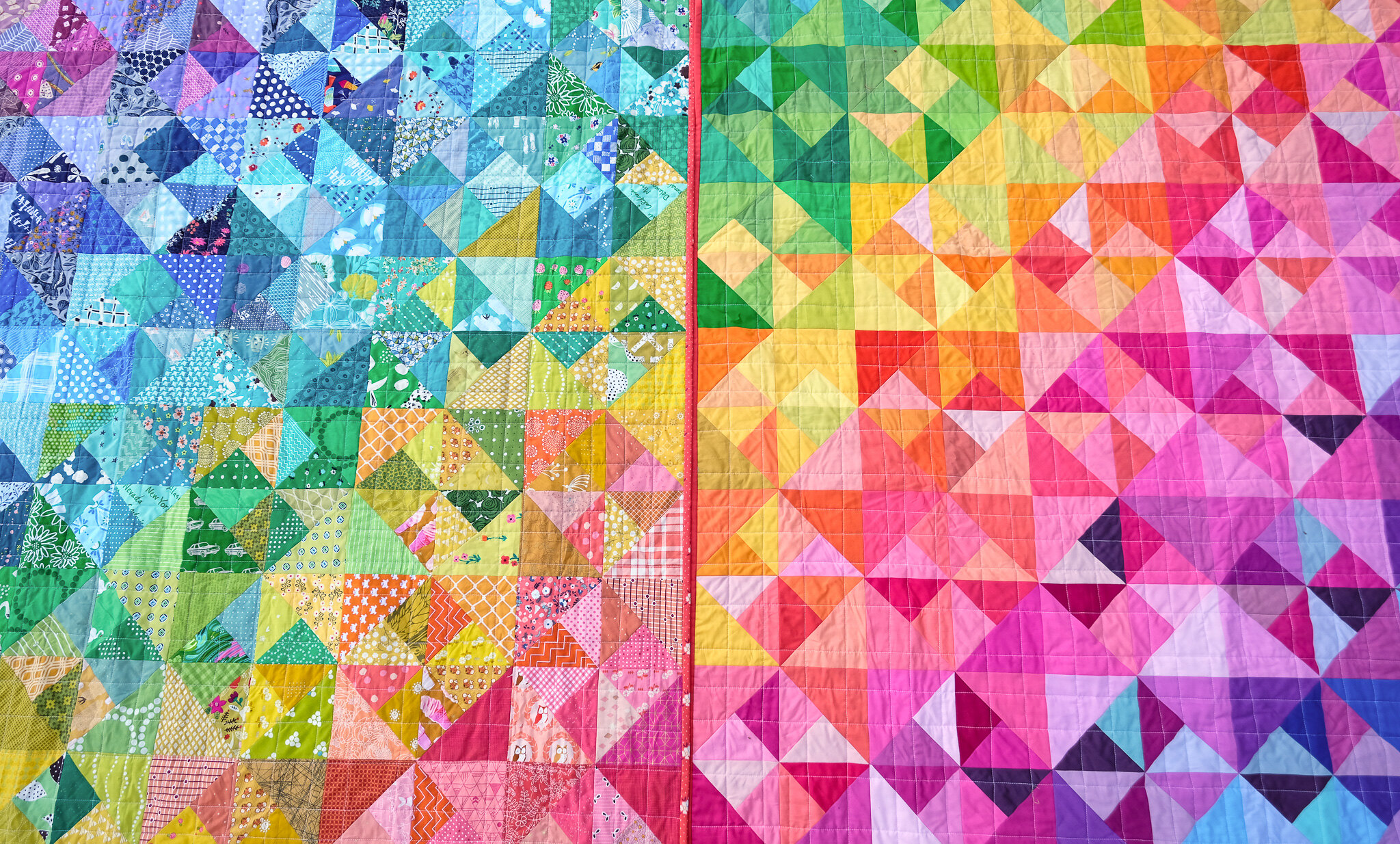 A Rainbow Cleo Quilt - Kitchen Table Quilting-Edit