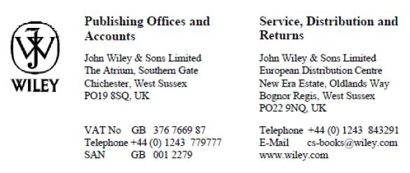 John Wiley and Sons Ltd