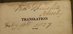 Penn Libraries RS141.3 .R6213 1824: Inscription