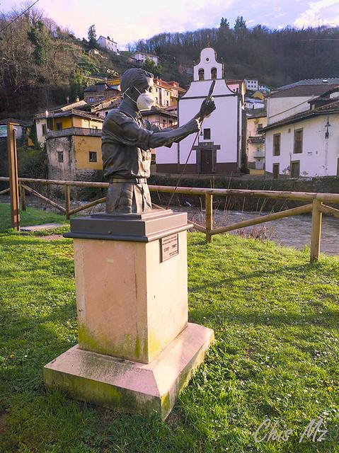 Monumento al tirador. Cangas del Narcea