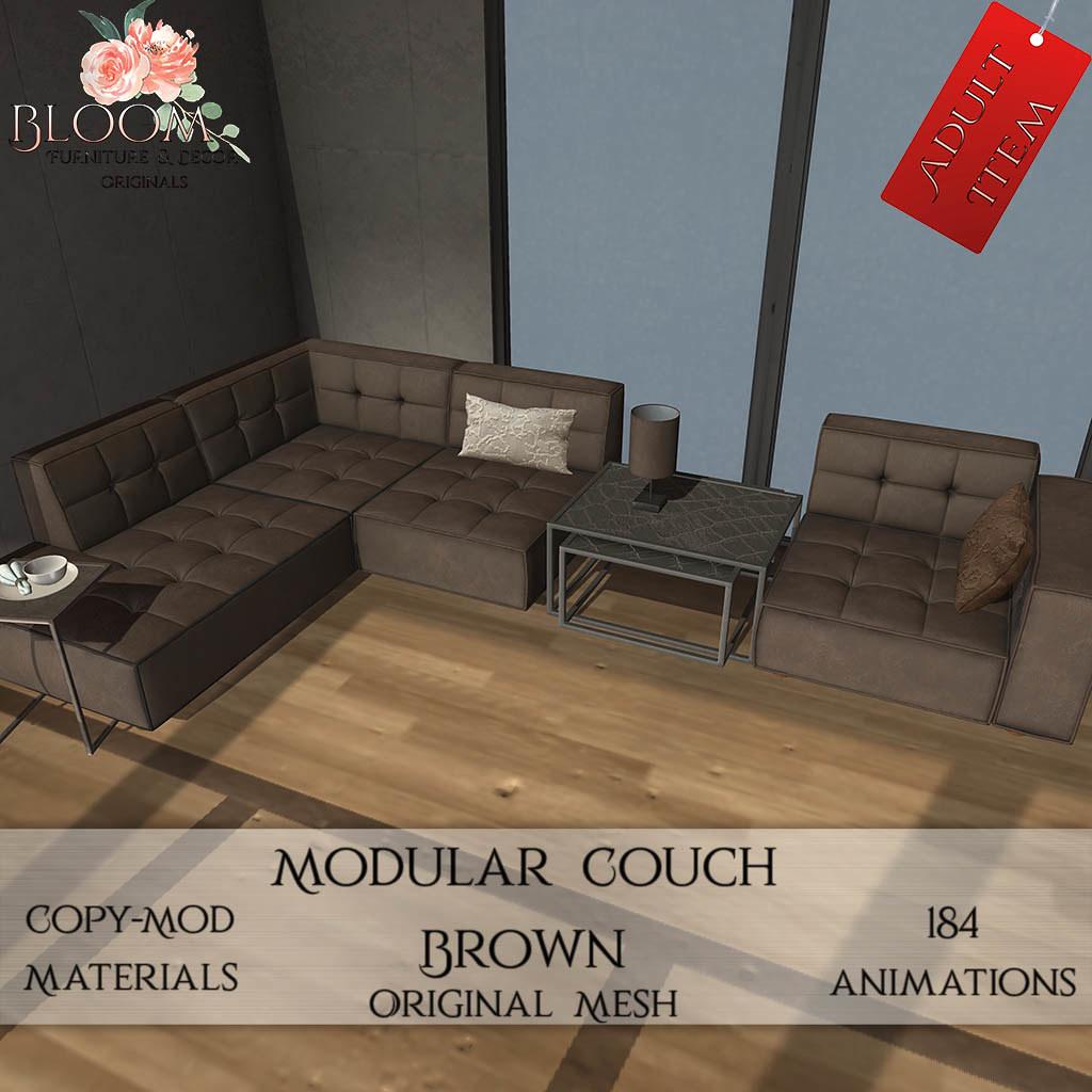 Bloom! originals – Modular Couch BrownAD