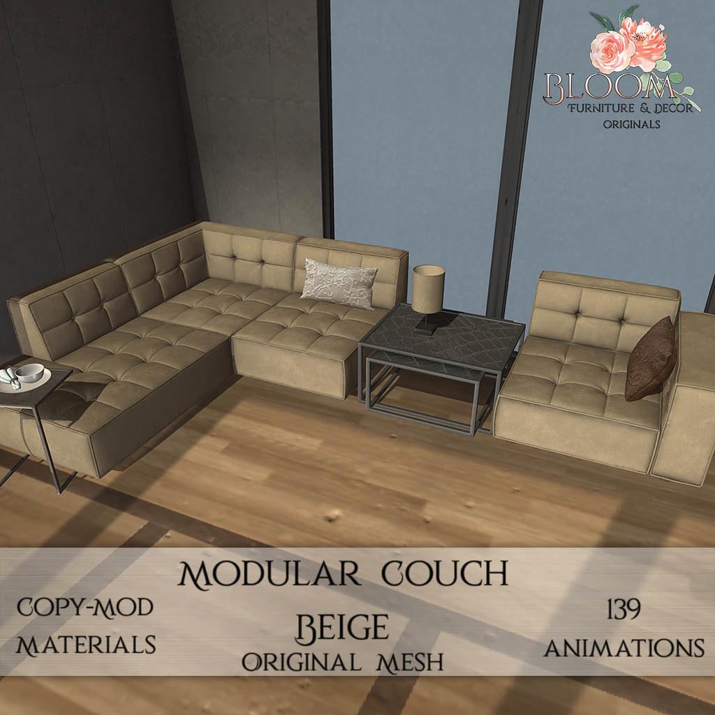 Bloom! originals – Modular Couch Beige (PG)AD