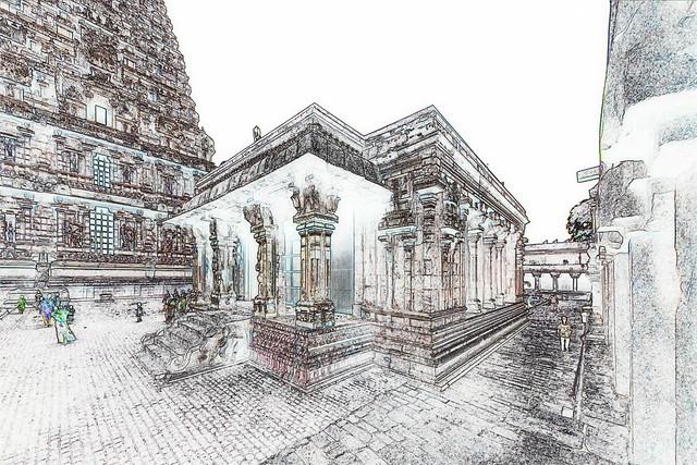 India - Tamil Nadu - Thanjavur - Brihadeshvara Temple - 540c