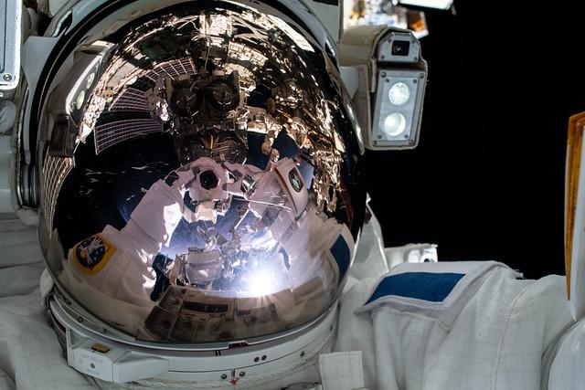 Astronaut Thomas Pesquet takes a