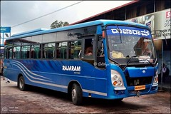 KA20AA1557, Rajaram Motors Tata Ultra Shakti coach Karur built, Muddur Udupi Fast service