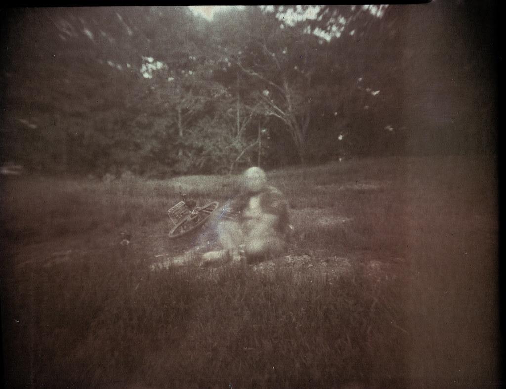 4x5 paper negative solargraph, self portrait