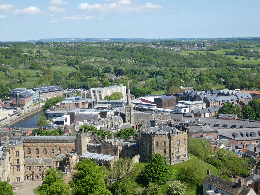 Far reaching views from the roof of Durham Cathedral