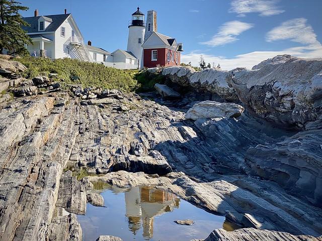 Pemaquid Lighthouse reflections, Maine coast