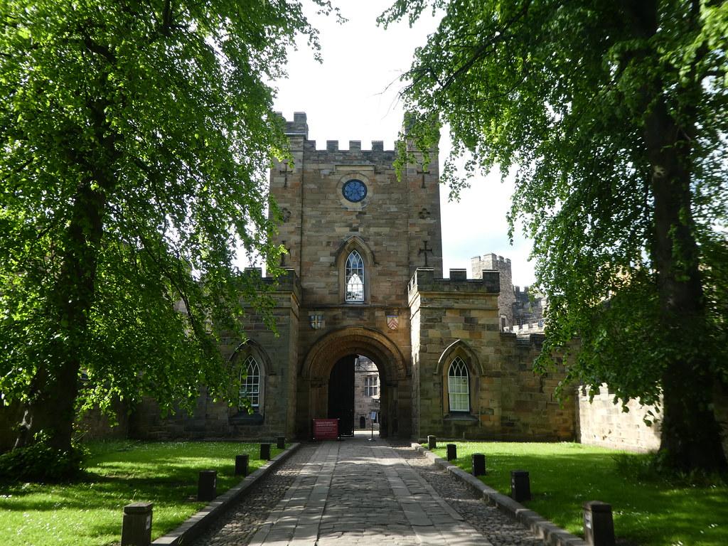 The entrance to Durham Castle