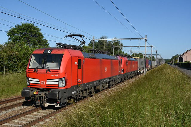 193329 DB Cargo + 193324 DB Cargo (cold) + 65900, Wijgmaal, 13/06/2021