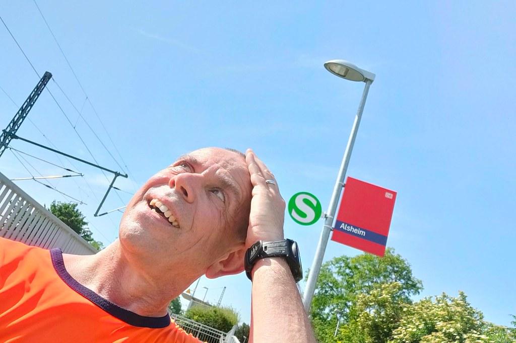 Halb Elf: Zurück am Bahnhof Alsheim