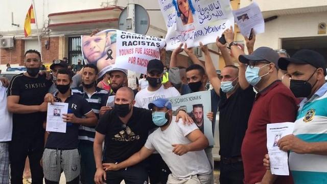 Ciudadanos de Mazarrón claman contra los crímenes racistas.