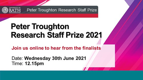 Details on how to join us online for the presentations for the Peter Troughton research staff prize 2021