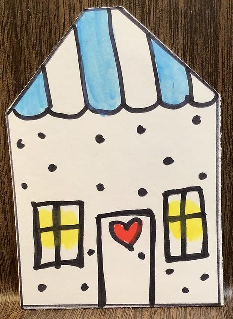 Doodled House ATC