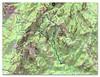 Carte IGN du Carciara avec la trace de la boucle Carciara - Paliri
