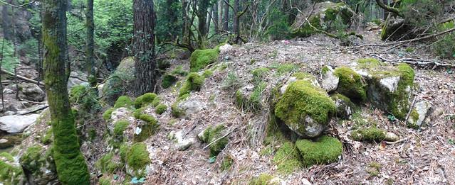 Sur le chemin Carciara - Paliri : le début près des caseddi (photo Olivier Hespel)
