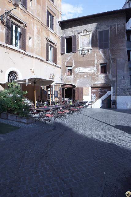 Terrazza della cucina romana.