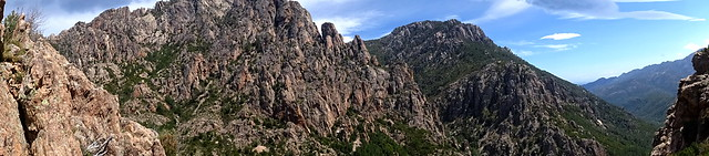 Panoramique Pta di Monte Sordu - Capeddu depuis le chemin de Paliri (HR31)