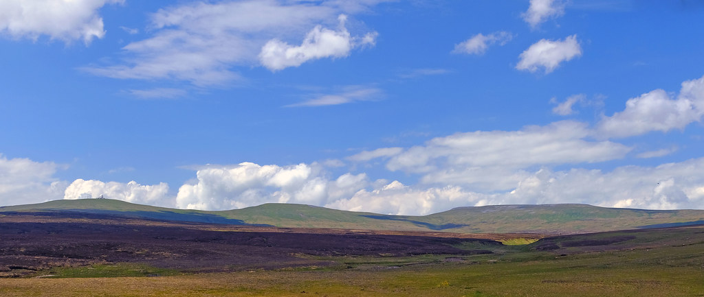The Big Three. Highest point on the Pennines, Cross Fell.