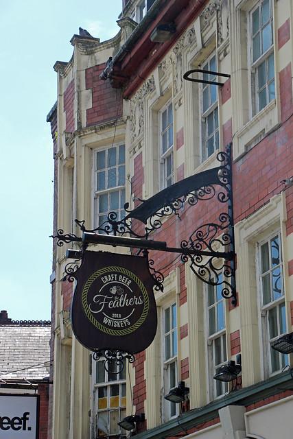English Pub Sign - The Feathers - Warrington