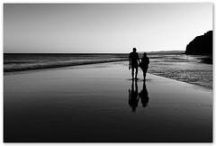 summertime / \ a couple on the beach