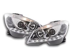 coppia fari Daylight Mercedes classe C W204 anno di costr. 07-10 cromato