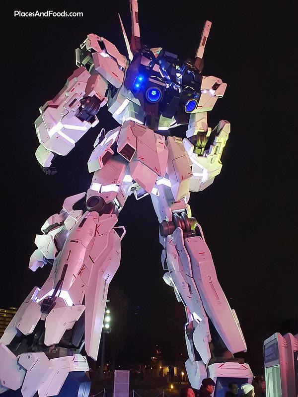 Life Sized Unicorn Gundam Statue Diver City Tokyo Plaza Odaiba review