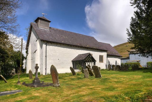 Ancient church at Myndtown, Shropshire