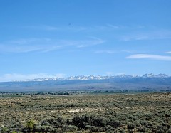 View from Wyoming 191 looking north/northeast to the snow crusted peaks of the Wind River Mountain Range. #StPete2Seattle