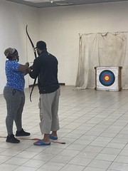 Archery session during Refugee Week