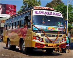KA19AB3809, Sri Navadurga Prasad DVN Coach built, Shivamogga Mangalore Express