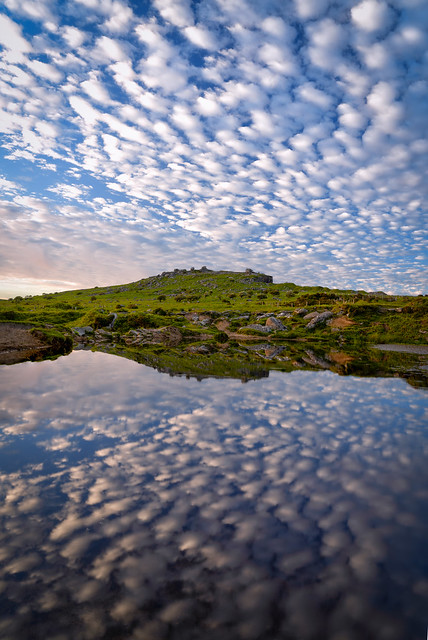 Reflections at the Cheesewrings on Bodmin Moor Cornwall UK