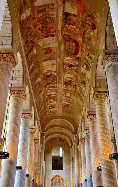 Abbaye de Saint-Savin, Vienne, France.