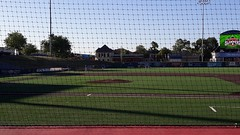 A view towards left field.