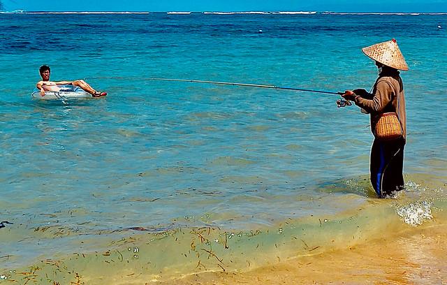 Tourist fisherman…….parece que pican