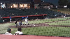 Slammers outfielder Alonzo Jones takes his turn at bat.