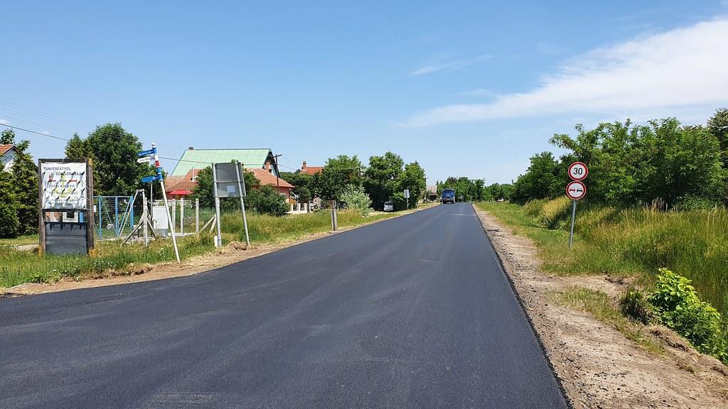 Így áll a szalóki útfelújítás