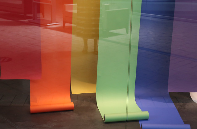Daily Colours - The Rainbow in the Store Window