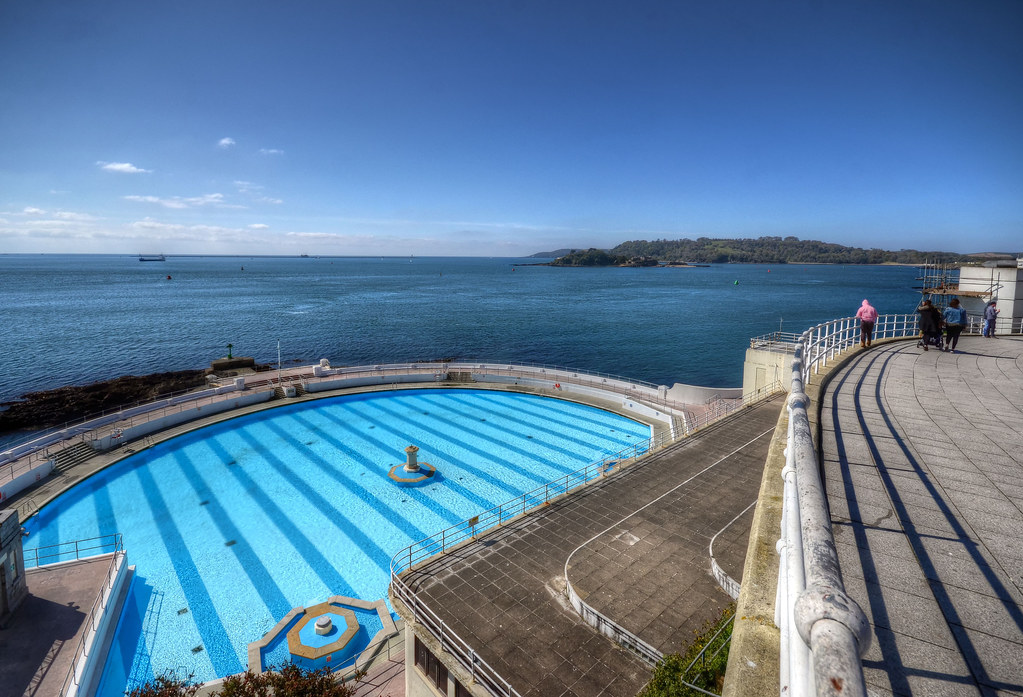 The seafront & lido at Plymouth