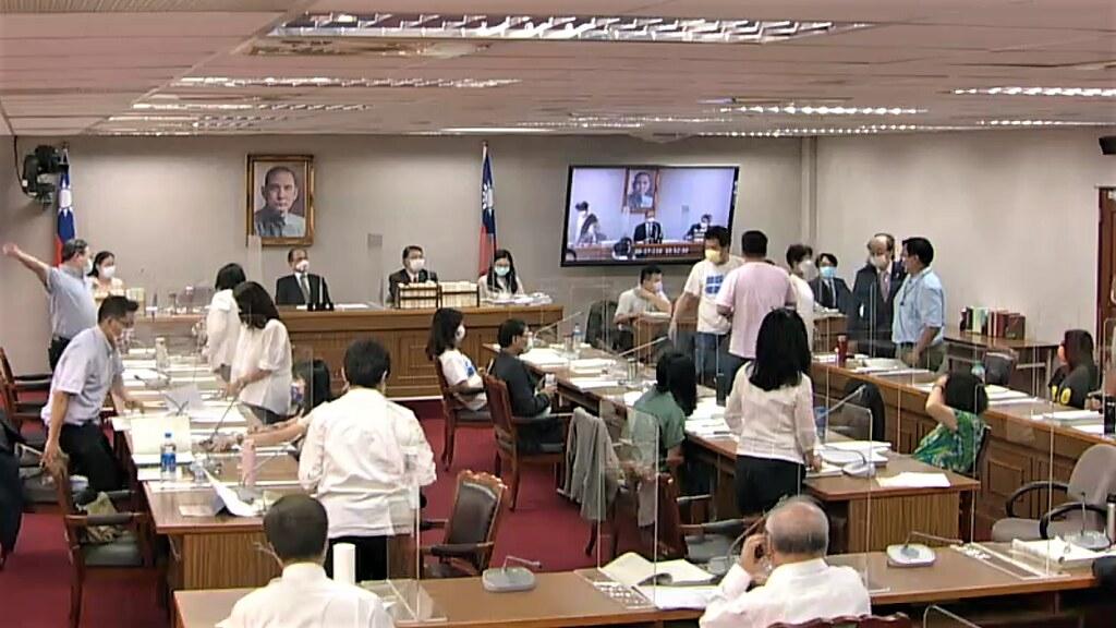 立法院近期針對行政院追加紓困預算舉行黨團協商。擷取自直播影片