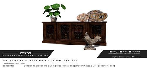 22769 - Hacieneda Sideboard - complete Set [ad]