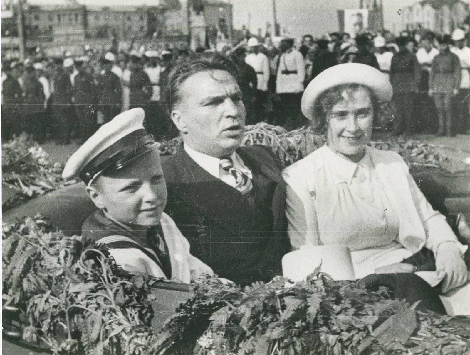 1937. Встреча Валерия Чкалова в Москве