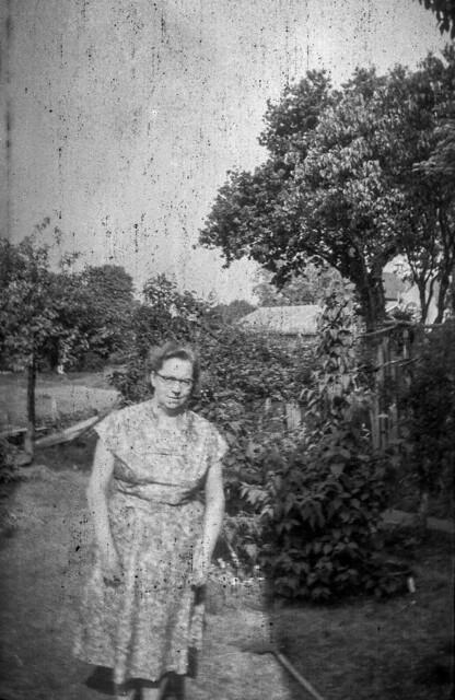 La dona del pati / Woman in her garden