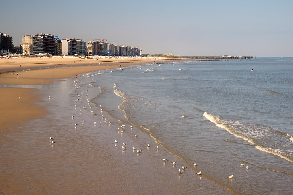 Beach of Blankenberge, Belgium