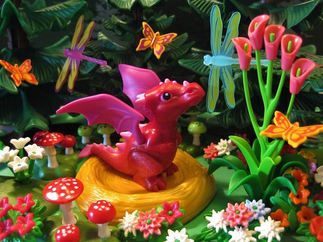Baby Dragon Dreams of Flying